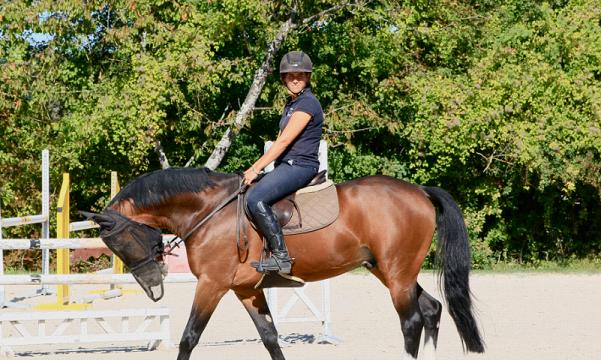 Lorine Pouliquen sur son cheval